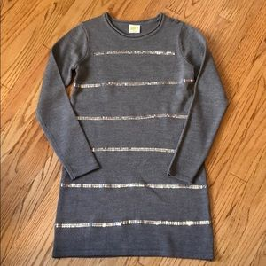 Crazy 8 gray dress with sequins size 14